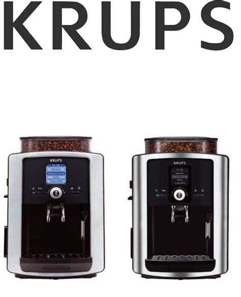 Krups Espresso Maker Ea 8050 User Guide Manualsonline Com