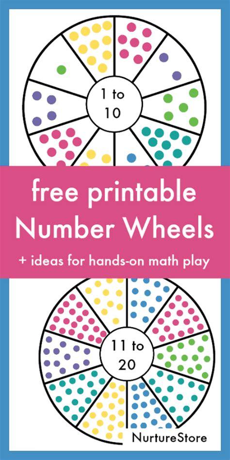printable number bond cards printable number wheel cards nurturestore