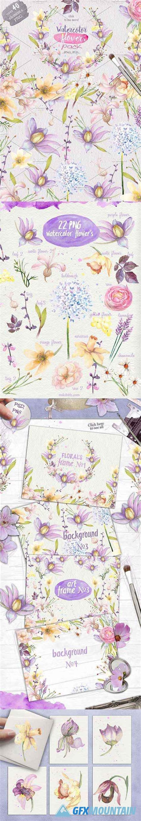 photoshop tutorial watercolor flower watercolor flowers 437160 187 free download graphics fonts