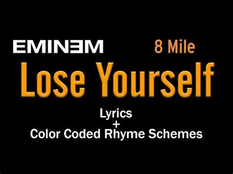 lose yourself eminem download eminem till i collapse lyric video colored rhyme scheme
