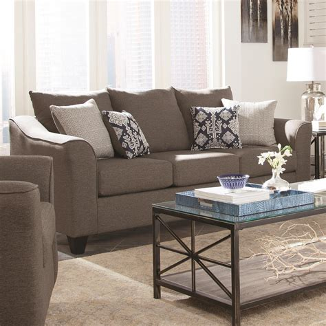 Dream Home Interiors Kennesaw Coaster Salizar Grey Sofa With Flared Arms Dream Home