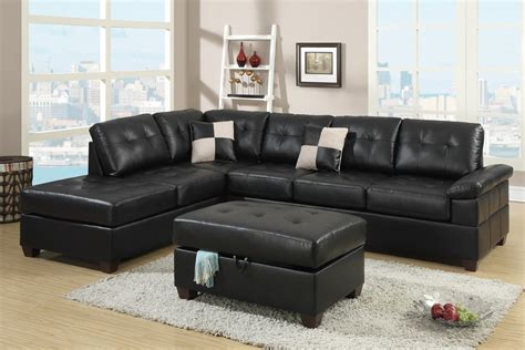 two piece sectional sofa in bonded leather espresso sofa 2 piece bonded espresso sectional set by poundex f7519