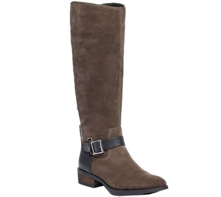 sole society boots sole society buckled leather boots franzie qvc