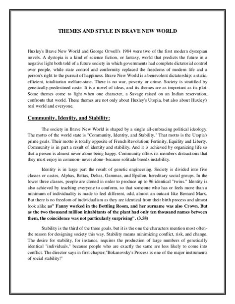 brave new world theme of drugs and alcohol essay topics brave new world docoments ojazlink