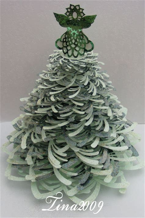 Craft robo gsd file template 3d christmas tree with angel 163 4 49