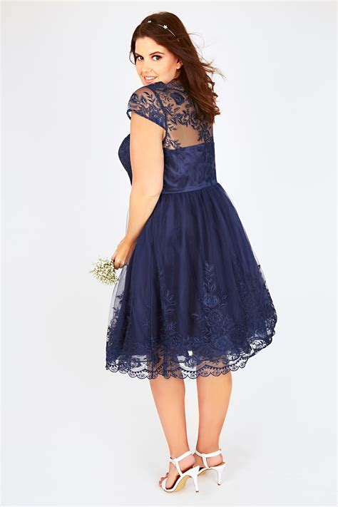 Dress Navy Na 11 chi chi navy sweetheart embroidered mesh