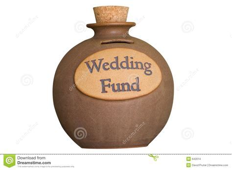 Wedding Savings Fund stock photo. Image of corked
