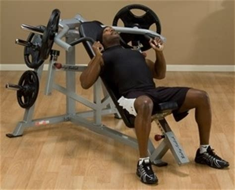 leverage incline bench press body solid leverage incline bench press fitness superstore