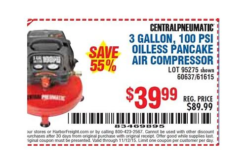 compressor coupon harbor freight