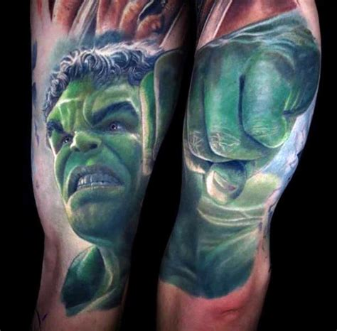 incredible hulk tattoo designs 100 tattoos for gallant green design