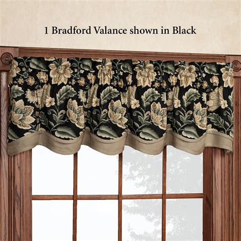 Standard Valance Length valerie jacobean floral standard length window treatment