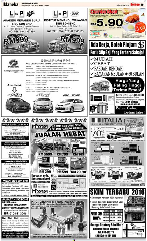 Thursday Three Books With Formats by Thursday May 11 The Borneo Post Classifieds