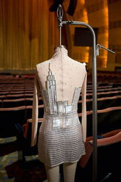 Linetta Dress project runway origami and nyc skyline on