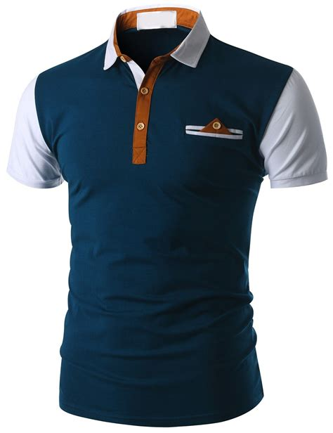 Kaos Pocket Navy Blue doublju s sleeve pocket polo shirt cmtts015