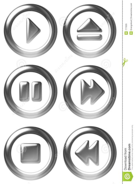 Player Button Symbols Royalty Free Stock Images - Image