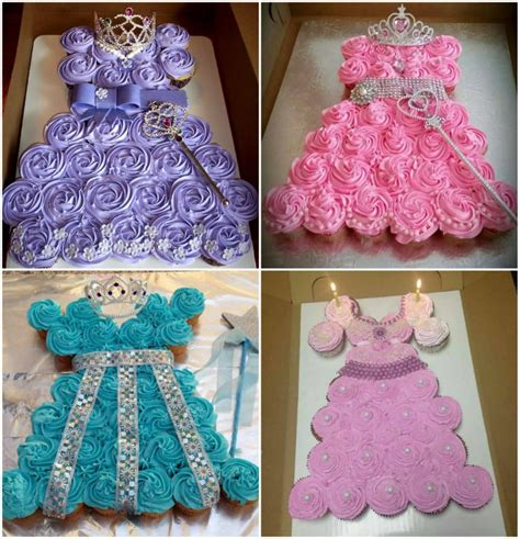 Click here for this princess pullapart cupcake cake