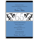 Elegant Vine Blue 65th Birthday Milestone Invitations
