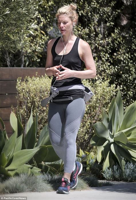 claire danes singer claire danes goes braless in vest and skin tight leggings