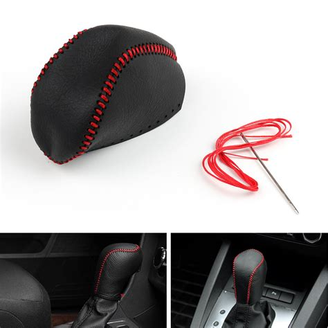 Leather Shift Knob Cover by Genuine Leather Gear Shift Knob Cover Automatic For Toyota