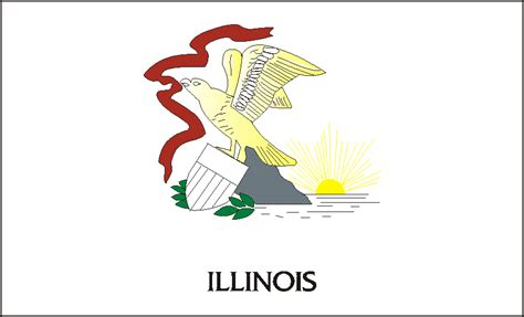 Interesting Illinois State Flag With Illinois State Flag Illinois State Flag Coloring Page