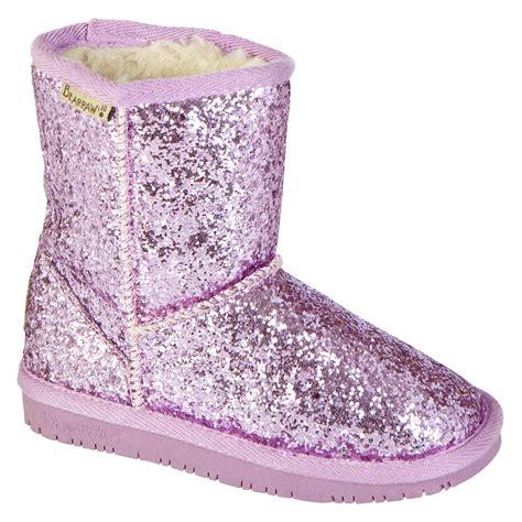 paw s cheri faux fur pink glitter mid calf