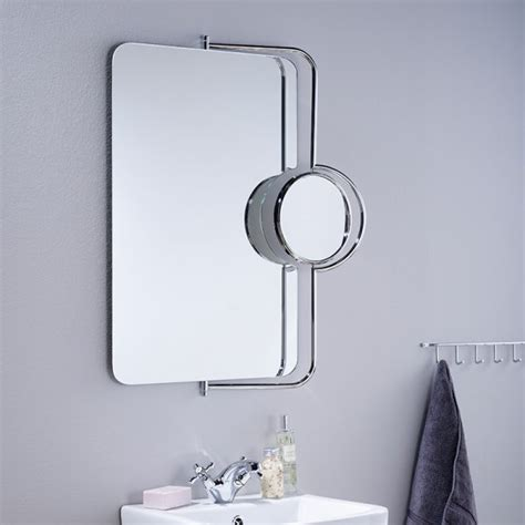 electric mirrors bathroom endon el petelas non electric mirror 3x magnification