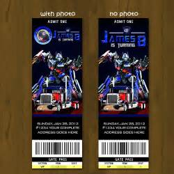 transformers birthday ticket invitation by splashboxprintables