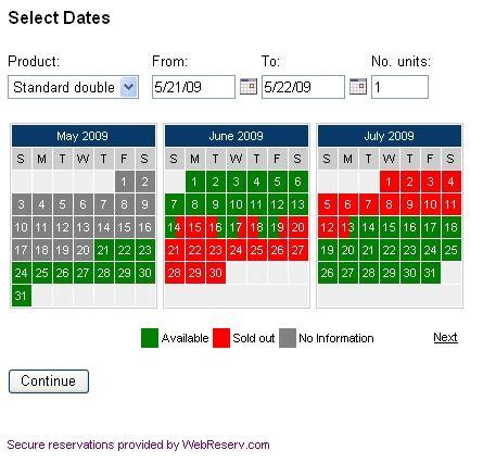Booking Calendar Webreserv Calendar 1 0 171 Webreserv