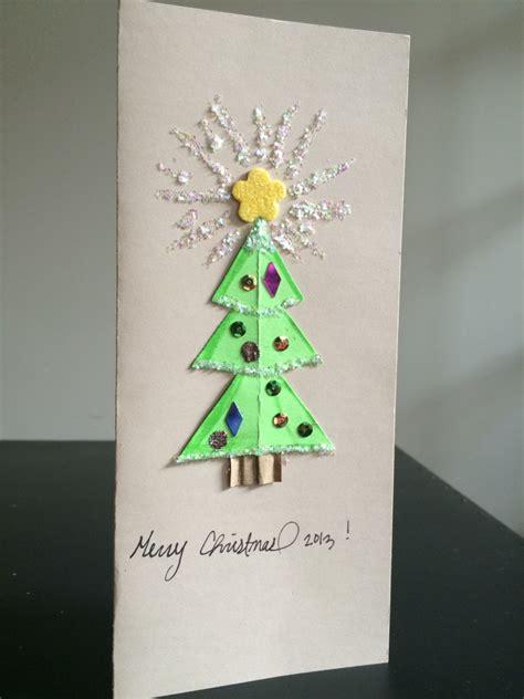 diy christmas card kids craft
