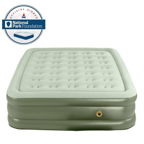 coleman double high quickbed twin inflatable airbed