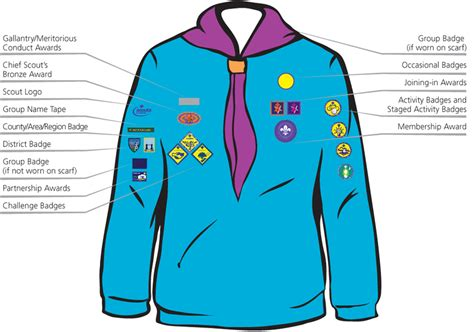 what side does the st go on 1st liss scout group beaver sewing guide 1st liss scout