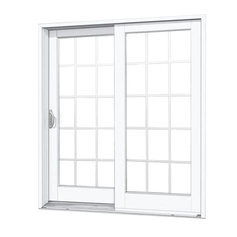 Masterpiece 60 In X 80 In Composite White Left Hand Dp50 Masterpiece Patio Doors