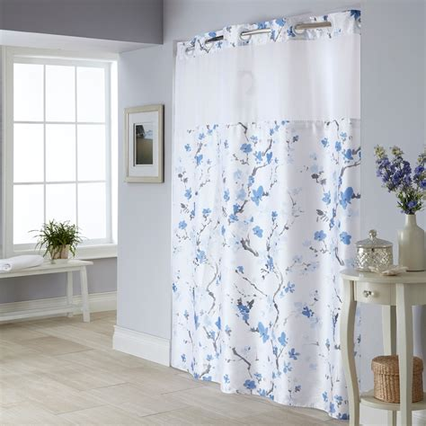 blue fabric shower curtain blue polyester shower curtain kohl s
