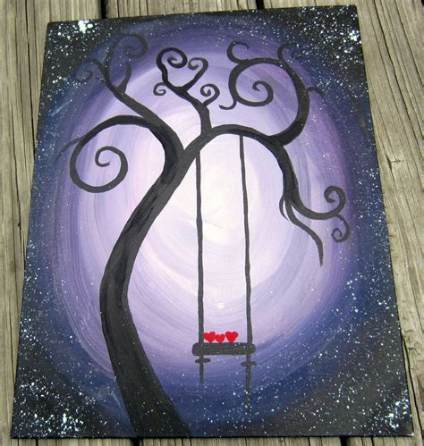 painting ideas swing hearts simple painting ideas canvas