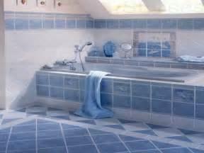 blue tile bathroom decorating ideas