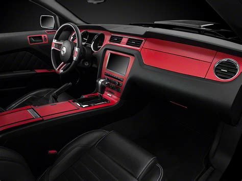 american muscle graphics mustang red carbon fiber dash kit 387405 10 14 all free shipping