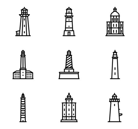lighthouse icons 455 free vector icons