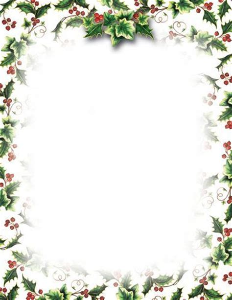 Lovely Cordless Christmas Wreaths With Lights #9: Holly-and-Ivy-Christmas-Letterhead-8-5-x-11-TheRoyalStore-49034-L.jpg