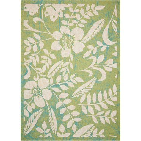 home and garden rugs nourison home and garden green 10 ft x 13 ft indoor outdoor area rug 338518 the home depot