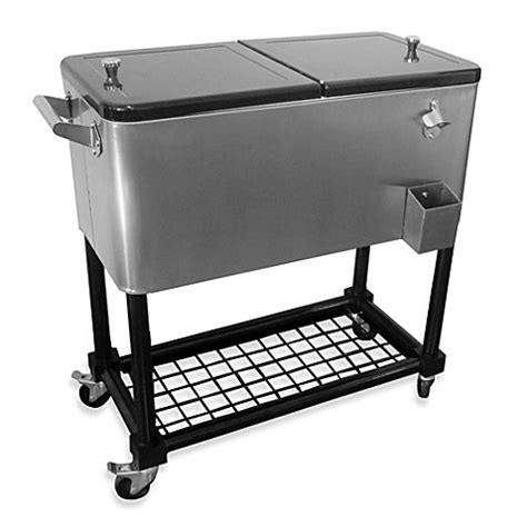 bed bath and beyond cooler buy 80 quart stainless steel cooler with tray from bed