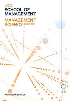 Management Science3 bsc msci management science ucl school of management