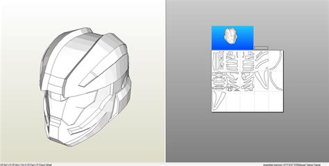 foam templates papercraft pdo file template for halo 4 recruit helmet