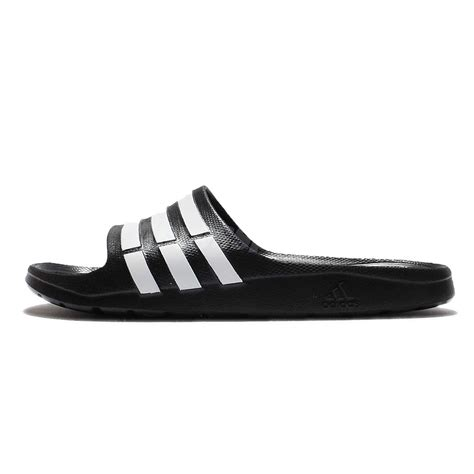 Adidas Duramo8 Strips Black Original Made In Indonesia Bnwb adidas duramo slide black white mens sport slippers slip on shoes sandals g15890 ebay