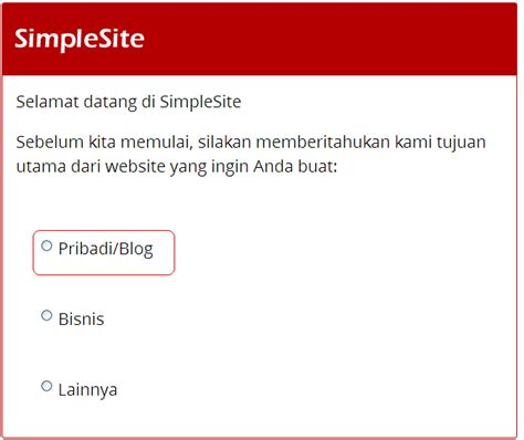 membuat website simple cara membuat website gratis cepat di simple site