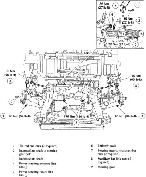 electric power steering 2005 ford escape user handbook repair guides power rack pinion steering gear removal installation autozone com
