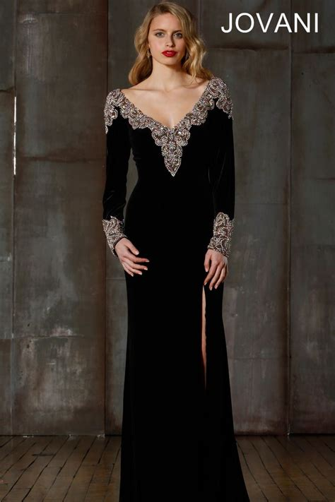 Dress Onde Rainbow velvet jovani gown jovani 157994 evening gowns embroidery neckline and style