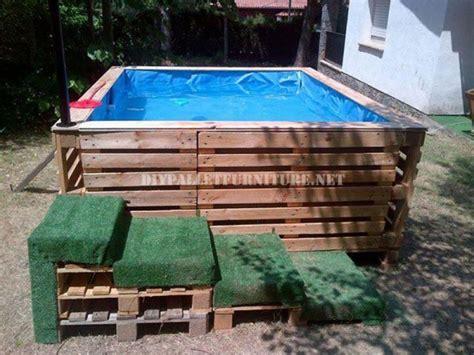 planen einen swimmingpool mit paletten bauenmobel aus