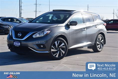 2018 nissan murano platinum 2018 nissan murano platinum suv in lincoln 4n18178