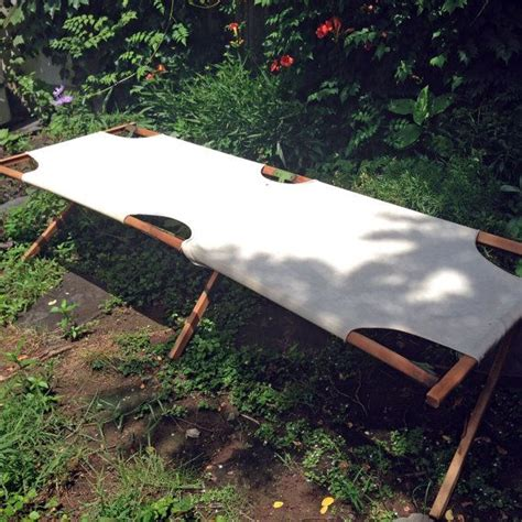 realever maya double sun lounger hammock bed vintage canvas cot c portable vintage cs and canvases