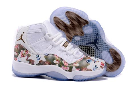 5 11 Brown White 2016 air 11 floral flower white brown shoes